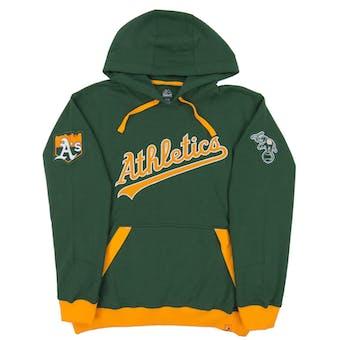 Oakland Athletics Majestic Green Third Wind Fleece Hoodie (Adult Large)