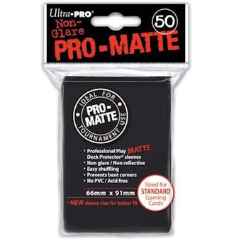 Ultra Pro Pro-Matte Black Deck Protectors (50 count pack)
