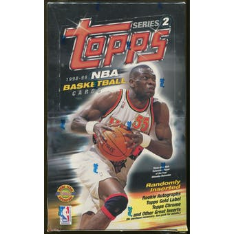 1998/99 Topps Series 2 Basketball Jumbo Box