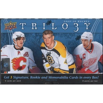 2009/10 Upper Deck Trilogy Hockey Hobby Box