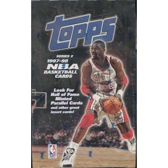 1997/98 Topps Series 2 Basketball Retail 36 Pack Box