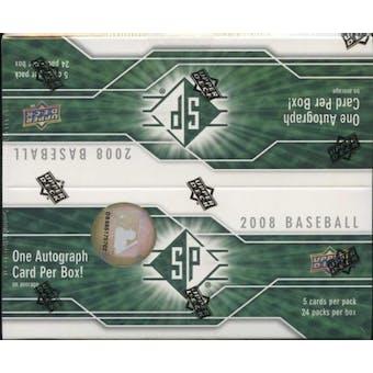 2008 Upper Deck SP Baseball Box