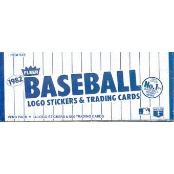 1982 Fleer Baseball Vending 24-Box Case