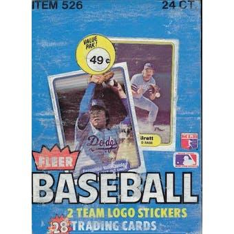 1982 Fleer Baseball Cello Box