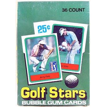 1982 Donruss Golf Wax Box