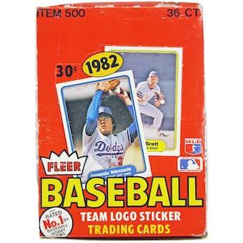 1982 Fleer Baseball Wax Box