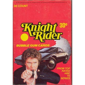 Knight Rider Wax Box (1982 Donruss)
