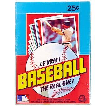 1982 O-Pee-Chee Baseball Wax Box