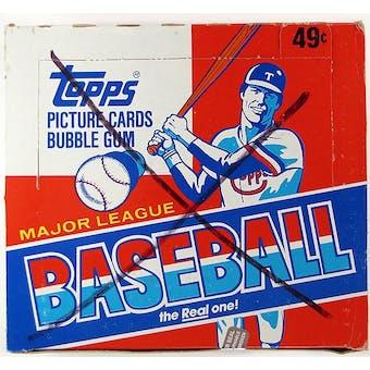1982 Topps Baseball Cello Box