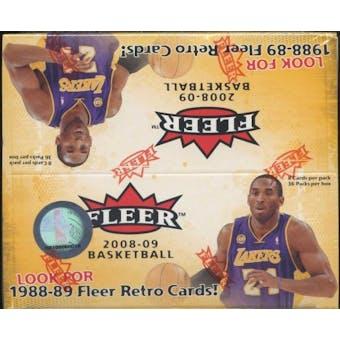 2008/09 Fleer Basketball 36-Pack Box