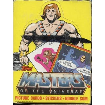Masters of the Universe Wax Box (1984 Topps)