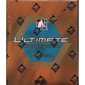 2009/10 ITG Ultimate Memorabilia 9th Edition Hockey Hobby Box