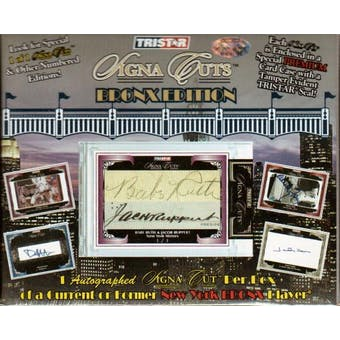2009 TriStar Signa Cuts Bronx Edition Baseball Hobby Box
