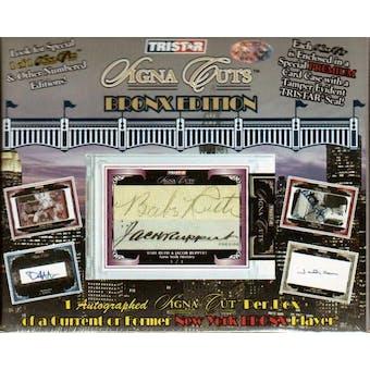2009 TriStar Signa Cuts Bronx Edition Baseball Hobby Box
