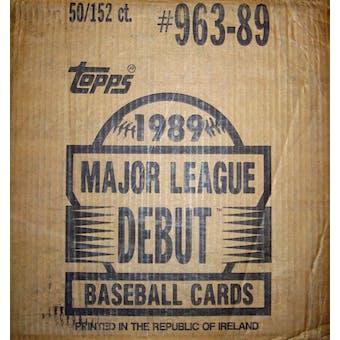 1989 Topps Debut Baseball Factory 50 Set Case