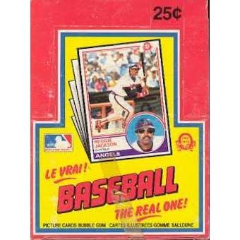 1983 O-Pee-Chee Baseball Wax Box