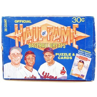 1983 Donruss Baseball Hall of Fame Greats Box