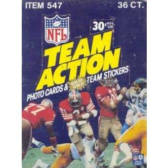 1983 Fleer in Action Football Wax Box
