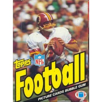 1983 Topps Football Wax Box
