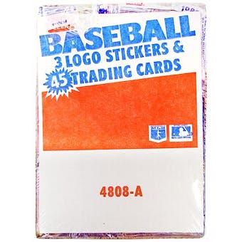 1986 Fleer Baseball Wax Rack Box