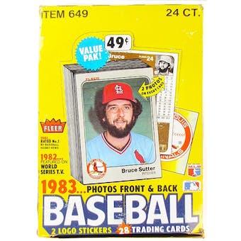 1983 Fleer Baseball Cello Box
