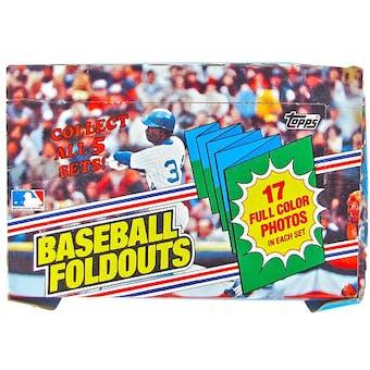 1983 Topps Foldouts Baseball Wax Box