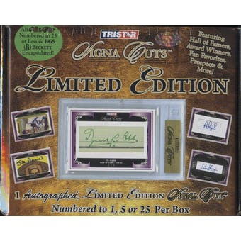 2009 TriStar Signa Cuts Limited Edition Baseball Hobby Box