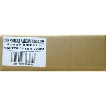 2009 Playoff National Treasures Football Hobby 4-Box Case