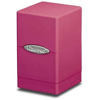 Ultra Pro Pink Satin Tower Deck Box