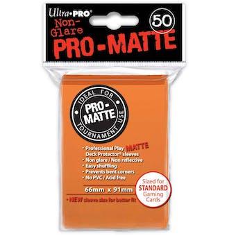 Ultra Pro Pro-Matte Orange Deck Protectors (50 count pack)