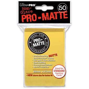Ultra Pro Pro-Matte Yellow Deck Protectors (50 count pack)