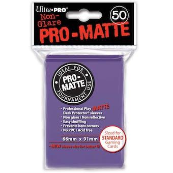 Ultra Pro Pro-Matte Purple Deck Protectors (50 count pack)