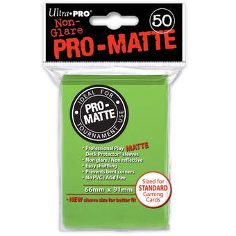 Ultra Pro Pro-Matte Lime Green Deck Protectors (50 count pack)