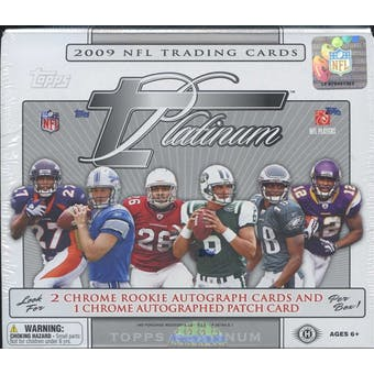 2009 Topps Platinum Football Hobby Box