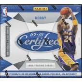 2009/10 Panini Certified Basketball Hobby Box
