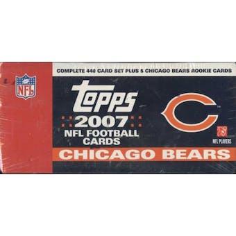 2007 Topps Football Factory Set (Box) (Chicago Bears)