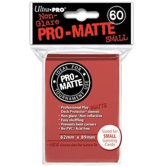 Ultra Pro Yu-Gi-Oh! Size Pro-Matte Red Deck Protectors (60 count pack)