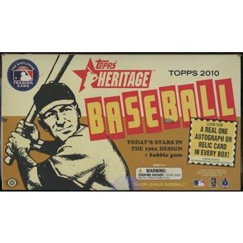 2010 Topps Heritage Baseball Hobby Box