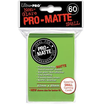 Ultra Pro Yu-Gi-Oh! Size Pro-Matte Lime Green Deck Protectors (60 count pack)