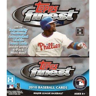 2010 Topps Finest Baseball Hobby Box