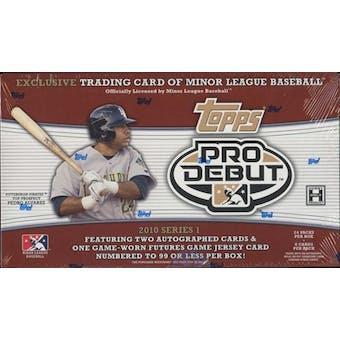 2010 Topps Pro Debut Series 1 Baseball Hobby Box