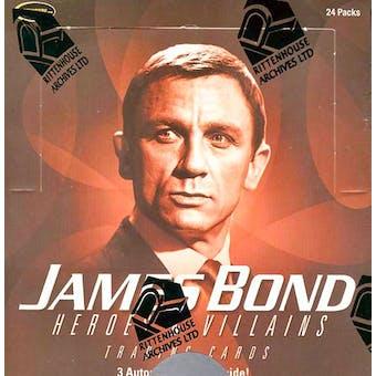 James Bond Heroes & Villains Trading Cards Box (Rittenhouse 2010)