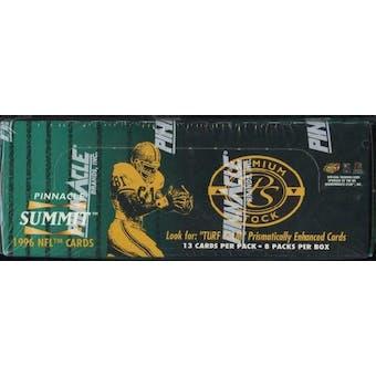 1996 Pinnacle Summit Premium Stock Football Box