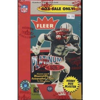 2003 Fleer Platinum Football Hobby Blaster 10 Pack Box