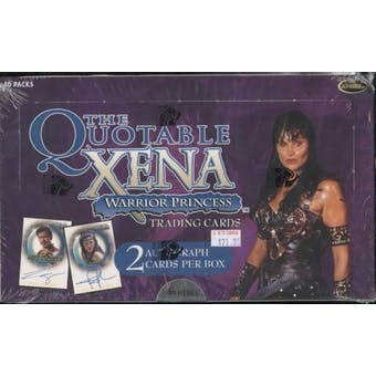 Xena Warrior Princess Quotable Trading Cards Box (Rittenhouse 2003)