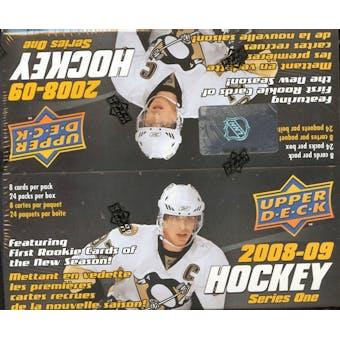 2008/09 Upper Deck Series 1 Hockey 24-Pack Box