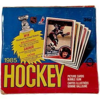 1984/85 O-Pee-Chee Hockey Wax Box