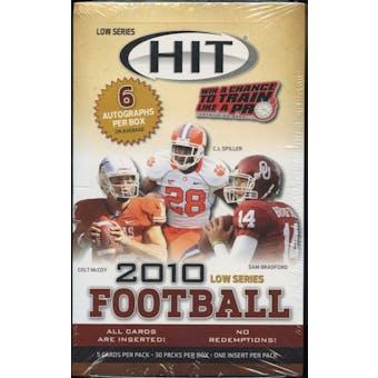 2010 Sage Hit Low Series Football Hobby Box