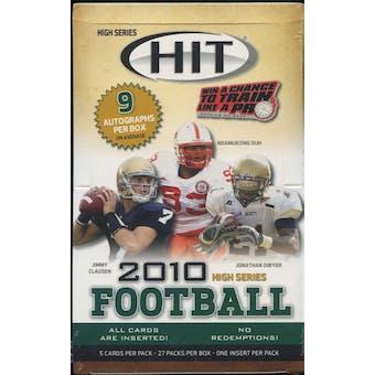 2010 Sage Hit High Series Football Hobby Box