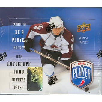 2009/10 Upper Deck Be A Player Signature Hockey Hobby Box